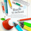 Back to school background vector illustration eps contains transparencies Royalty Free Stock Image