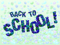 Back to school balloons Royalty Free Stock Photo