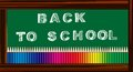 Back to school banner abstract illustration texture for web templates or banners with theme Royalty Free Stock Photography