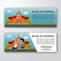 Back to school banner background design