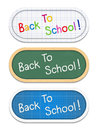 Back to school banners education Royalty Free Stock Photography
