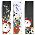 Back to school banners set of three vertical Stock Images