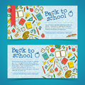 Back to school banners set vector illustration eps contains transparencies Royalty Free Stock Images