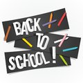 Back to school banners vector illustration Stock Image