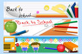 Back to school banners a vector illustration of banner designs Stock Images