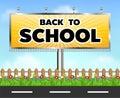 Back to school billboard side of the road