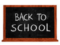 Back to school on blackboard Stock Photography