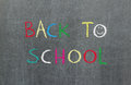 Back to school, blackboard Stock Photo