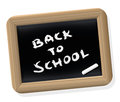 Back to school blackboard retro style written on a styled slate tablet with chalk isolated vector illustration on white background Stock Images