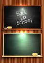 Back to school blackboard vector background Stock Photography