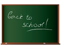 Back to school board with inscription Royalty Free Stock Images
