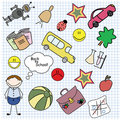 Back to school. Boy set. Royalty Free Stock Images