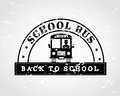 Back to school bus design over gray background vector illustration Stock Images