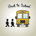 Back to school bus design over gray background vector illustration Stock Photo