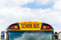 Back to school bus yellow buses in parking lot great image for educational and projects Stock Photography