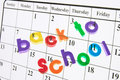 Back to School and Calendar Royalty Free Stock Photo