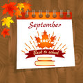 Back to school calendar sale background with design elements and text