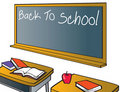 Back To School Chalkboard Royalty Free Stock Images