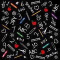 Back to School Chalkboard Background Stock Image