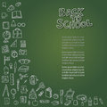 Back to school on chalkboard illustration of Royalty Free Stock Images