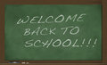 Back to school chalkboard an older that says welcome Royalty Free Stock Photography