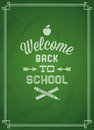 Back to school chalkboard with welcome Royalty Free Stock Photos