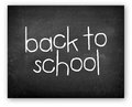 Back to school chalkboard with writen on it Royalty Free Stock Photo