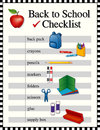 Back to School Checklist Royalty Free Stock Photos