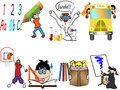 Back to school children  illustration Royalty Free Stock Photography