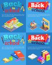 Back to School Collection of Posters with Text Royalty Free Stock Photo