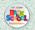 Back to School Colorful and Patterned Text Poster with Pencil