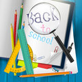 Back to school colorful vector background Royalty Free Stock Images