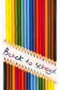 Back to school a colour anouncement be Stock Photo