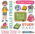 stock image of  Back to school concept doodle background