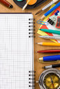Back to school concept and office supplies Royalty Free Stock Photography