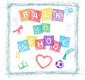 Back to school decoratove writing Stock Images