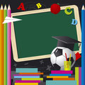 Back to school design for design work Royalty Free Stock Photo