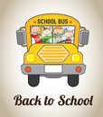 Back to school design over beige background vector illustration Stock Image