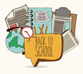 Back to school design over white background vector illustration Stock Images