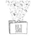 Back to school design over white background vector illustration Royalty Free Stock Images