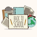 Back to school design over white background vector illustration Royalty Free Stock Image