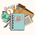 Back to school design over white background vector illustration Royalty Free Stock Photo