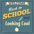 Back to school design poster and looking cool in vintage style vector illustration Royalty Free Stock Photography