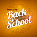 Back to school design with school supplies icons Royalty Free Stock Photo