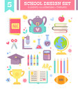 Back to school design set of cartoon items