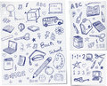 Back to school doodles Royalty Free Stock Photo