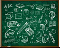 Back to school doodles on board Royalty Free Stock Images