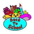 Back to School doodles isolated white background