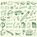 Back to school doodles set Royalty Free Stock Images