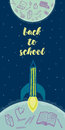 Back to school doodles vector background Royalty Free Stock Photo